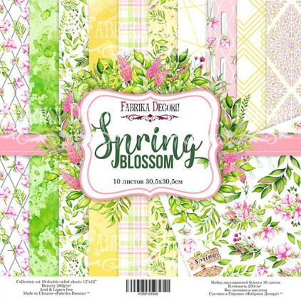 Set of scrapbooking papers - Fabrika Decoru - Spring blossom