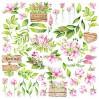 Papier do tworzenia kartek i scrapbookingu - Fabrika Decoru - Wiosenne kwiaty - Obrazki do wycinania