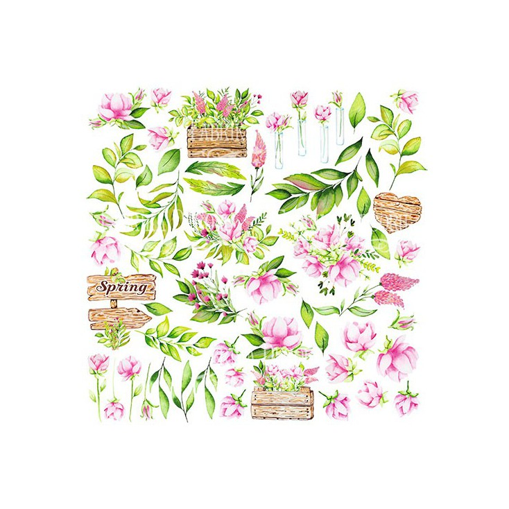 Scrapbooking paper - Fabrika Decoru - Spring blossom - Pictures for cutting