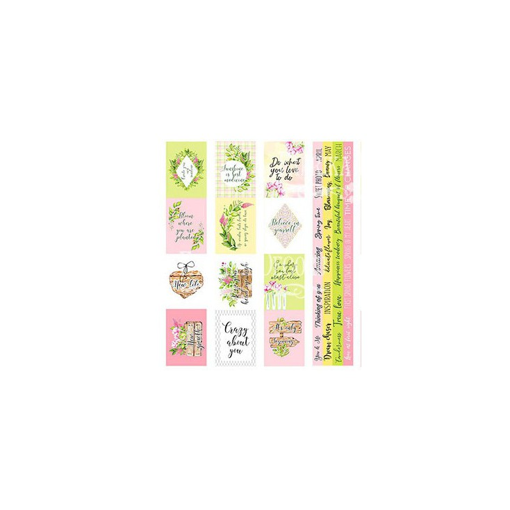 Scrapbooking paper - Fabrika Decoru - Spring blossom - 5 stripes - Pictures for cutting