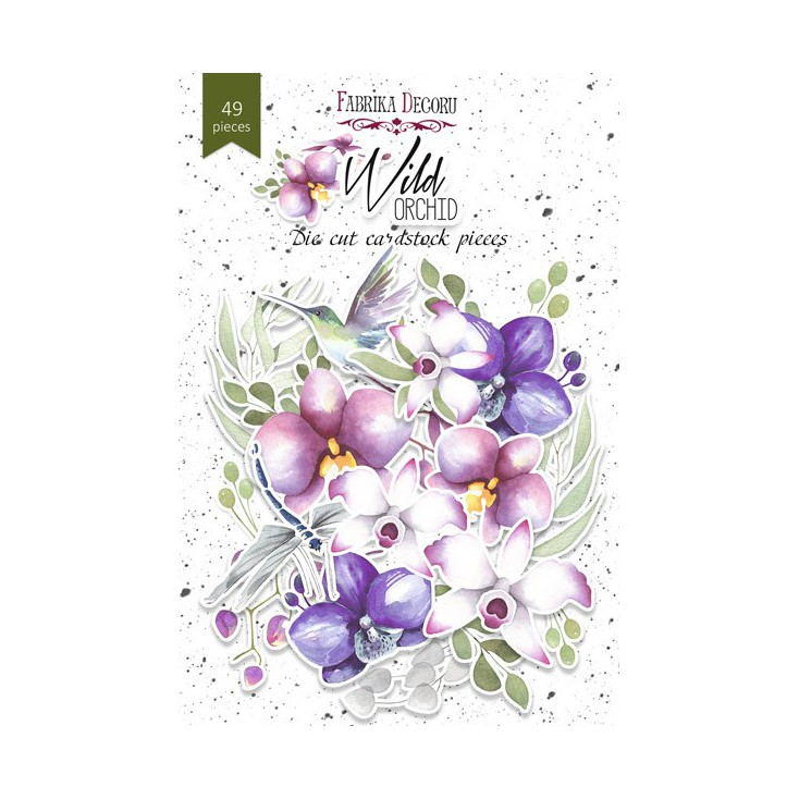 Set of die cuts - Fabrika Decoru - Wild orchid - 49pcs