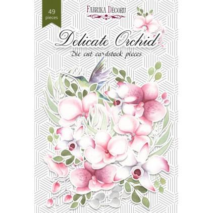Set of die cuts - Fabrika Decoru - Tender orchid 02 - 49pcs