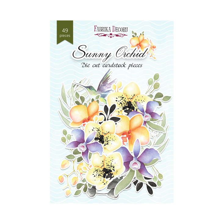 Set of die cuts - Fabrika Decoru - Sunny orchid - 49pcs