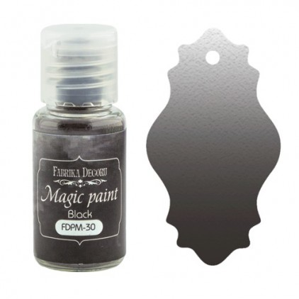 Magic, dry paint - Fabrika Decoru - neutral black - 15ml
