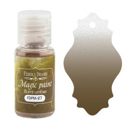 Magic, dry paint - Fabrika Decoru - burnt umber - 15ml