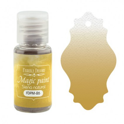 Magic, dry paint - Fabrika Decoru - sienna natural - 15ml