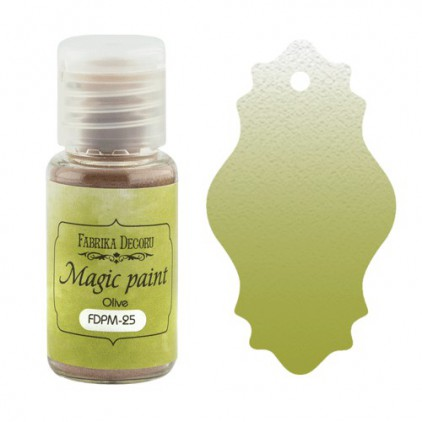 Magiczna farbka w proszku - Fabrika Decoru - oliwkowa - 15ml
