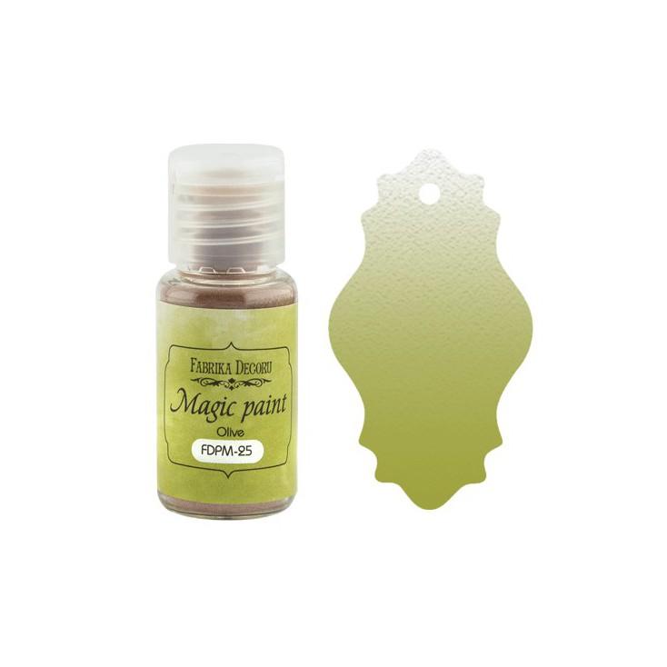 Magic, dry paint - Fabrika Decoru - olive - 15ml