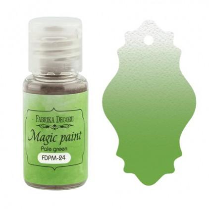 Magiczna farbka w proszku - Fabrika Decoru - blado zielona - 15ml