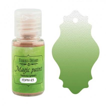 Magiczna farbka w proszku - Fabrika Decoru - żółto-zielona - 15ml