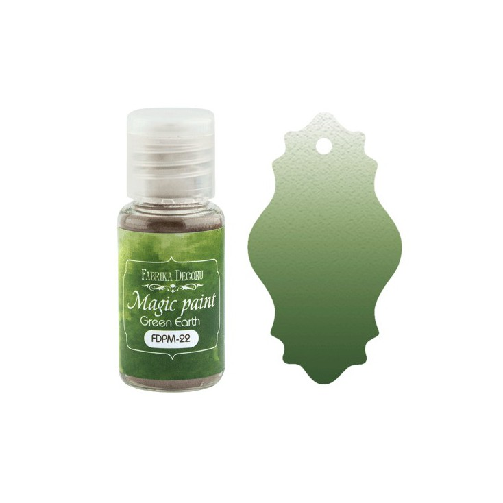 Magic, dry paint - Fabrika Decoru - green earth - 15ml