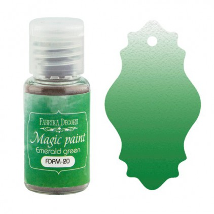 Magic, dry paint - Fabrika Decoru - emerald green - 15ml
