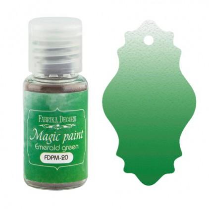 Magiczna farbka w proszku - Fabrika Decoru - szmaragdowo-zielona - 15ml