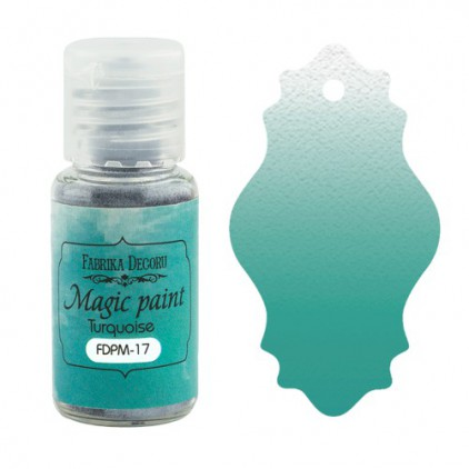 Magic, dry paint - Fabrika Decoru - turquoise - 15ml