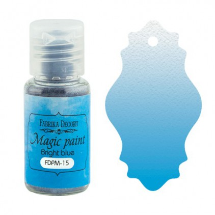 Magic, dry paint - Fabrika Decoru - bright blue - 15ml