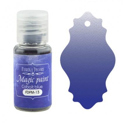 Magiczna farbka w proszku - Fabrika Decoru - niebieska kobaltowa - 15ml