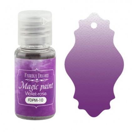 Magiczna farbka w proszku - Fabrika Decoru - fioletowo-różowa - 15ml