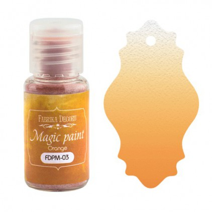 Magiczna farbka w proszku - Fabrika Decoru - pomarańczowa - 15ml