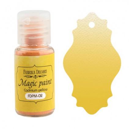 Magiczna farbka w proszku - Fabrika Decoru - żółty kadm - 15ml