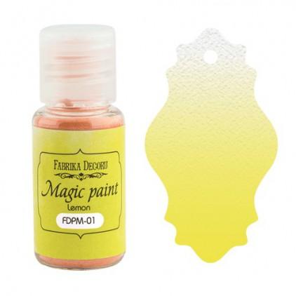 Magiczna farbka w proszku - Fabrika Decoru - cytrynowa - 15ml