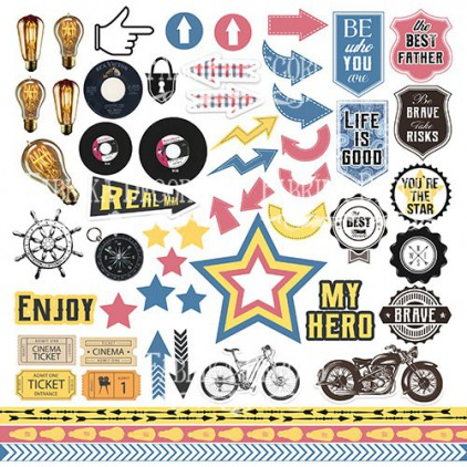 Scrapbooking paper - Fabrika Decoru - Specially for him - Pictures for cutting