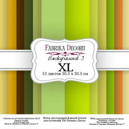 Set of scrapbooking papers - Fabrika Decoru - Backgrounds 03 XL