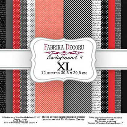 Set of scrapbooking papers - Fabrika Decoru - Backgrounds 04 XL