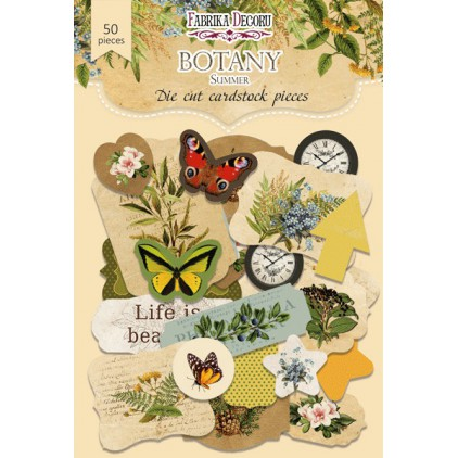 Set of die cuts - Fabrika Decoru - Botany Summer 02 - 50pcs