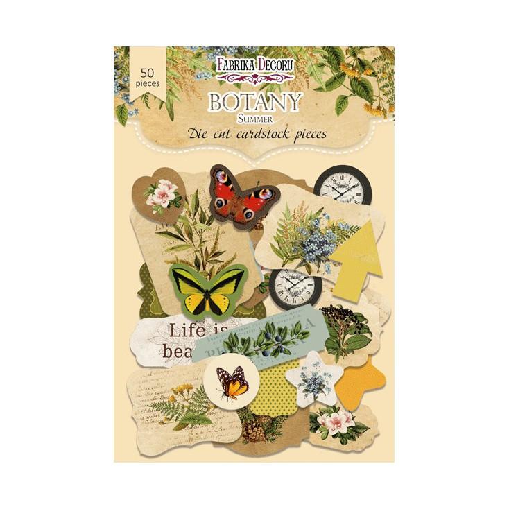 Zestaw papierowych kształtów - Fabrika Decoru - Botany Summer 02 - 50 części