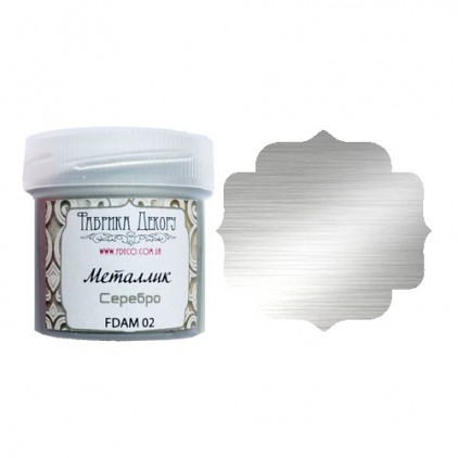 Metallic paint - Fabrika Decoru - silver - 20ml
