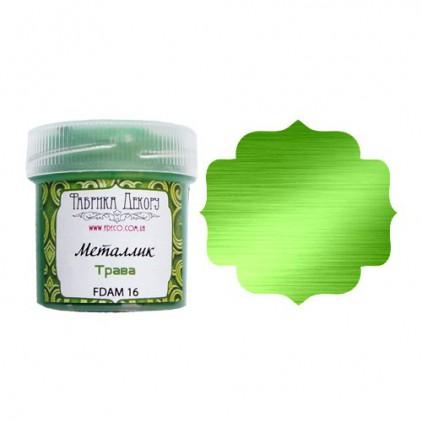 Farbka z efektem metalicznym - Fabrika Decoru - zieleń trawy - 20ml