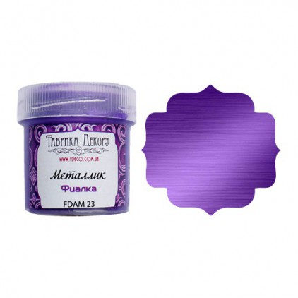 Metallic paint - Fabrika Decoru - violet - 20ml