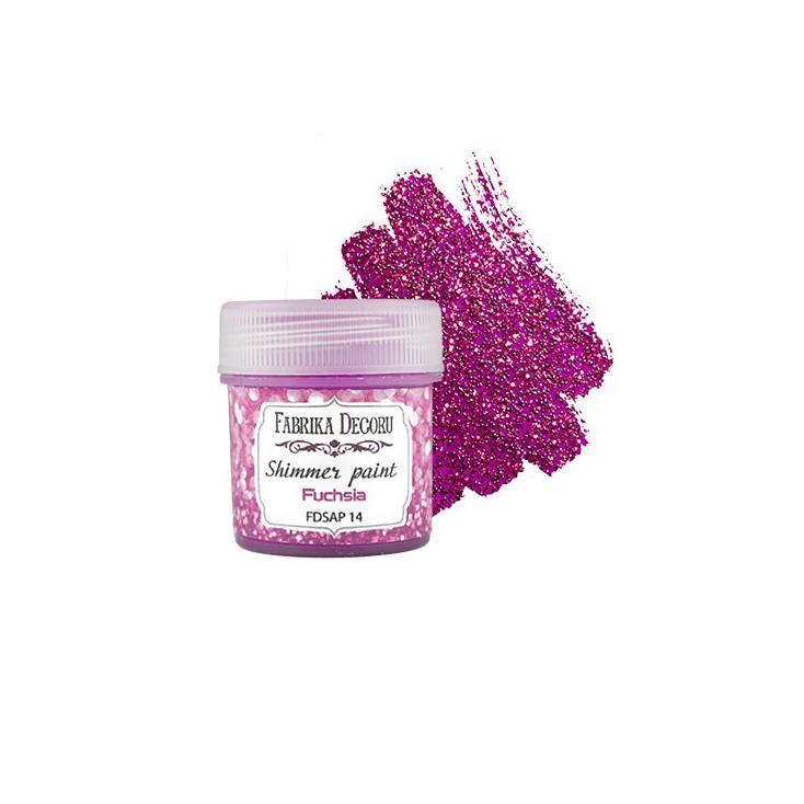 Shimmer paint - Fabrika Decoru - fuchsia - 20ml
