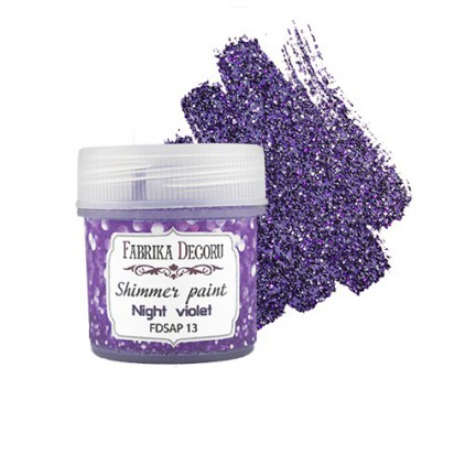 Shimmer paint - Fabrika Decoru - violet night - 20ml