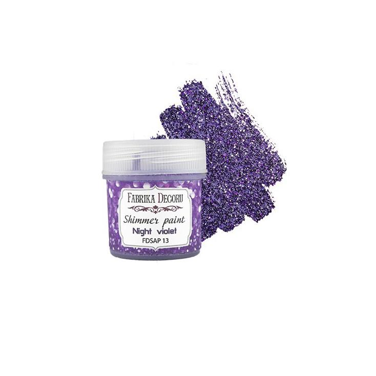 Shimmer paint - Fabrika Decoru - violet night - 20ml