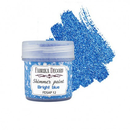 Shimmer paint - Fabrika Decoru - bright blue - 20ml