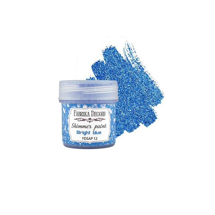 Shimmer paint - Fabrika Decoru - bright blue - 20ml
