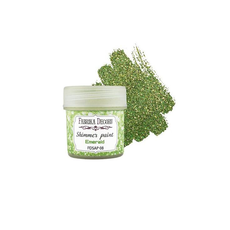 Shimmer paint - Fabrika Decoru - emerald - 20ml