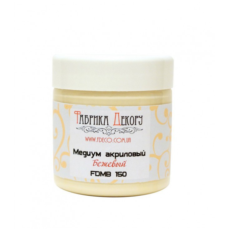 Beige acrylic medium - Fabrika Decoru - 150ml