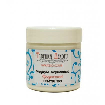 Transparent acrylic medium - Fabrika Decoru - 150ml