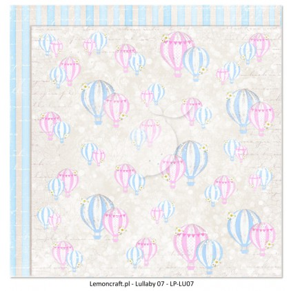 Double sided scrapbooking paper - Lullaby 07
