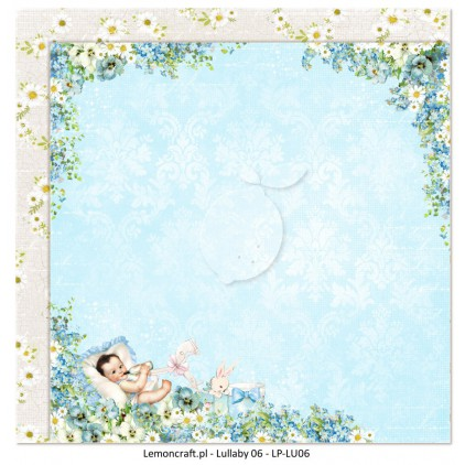 Dwustronny papier do scrapbookingu - Lullaby 06