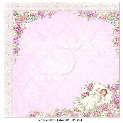 Dwustronny papier do scrapbookingu - Lullaby 04