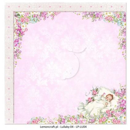 Dwustronny papier do scrapbookingu - Lullaby 04