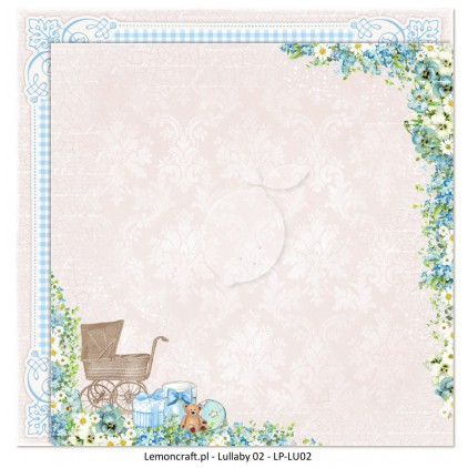 Dwustronny papier do scrapbookingu - Lullaby 02