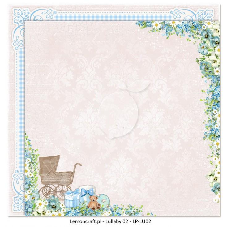 Dwustronny papier do scrapbookingu - Lullaby 02