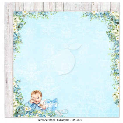 Double sided scrapbooking paper - Lullaby 01