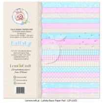Bloczek papierów bazowych do scrapbookingu - Lullaby