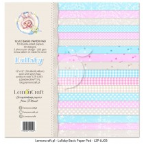 Stack of basic scrapbooking papers - Lullaby
