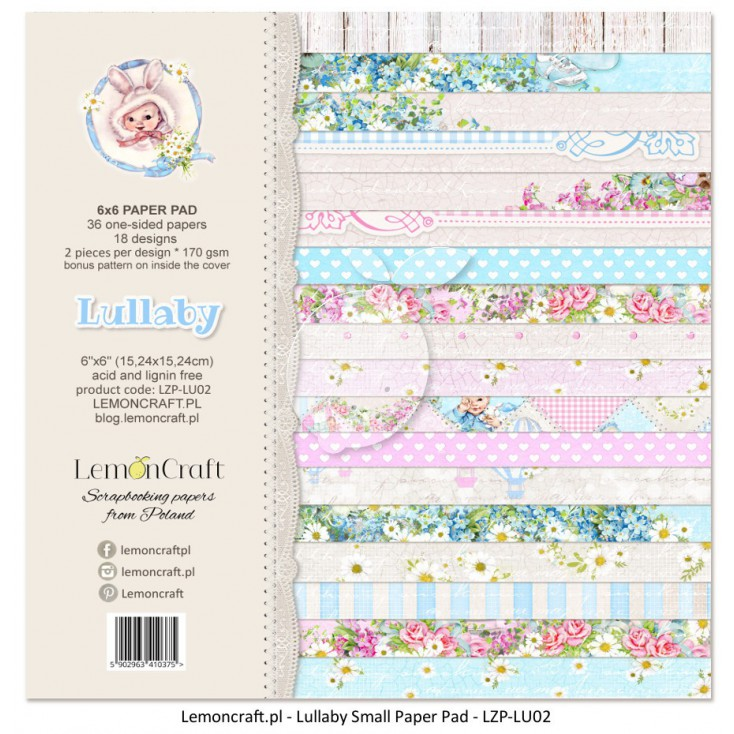 Pad of scrapbooking papers - Lullaby 6x6